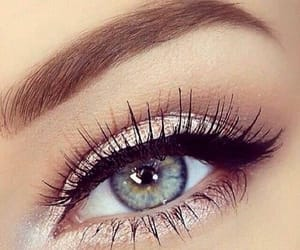 eye liner, girl, and eyes image