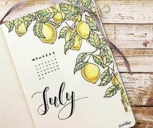 journal, july, and lemons image