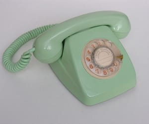 green, telephone, and old image