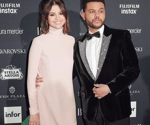 selena gomez, the weeknd, and couple image
