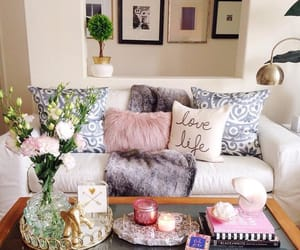 gold, home decor, and white image