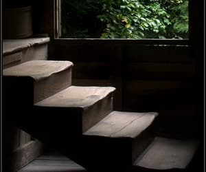 antique, escaliers, and bois image