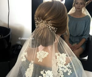 bride, hair, and hairstyle image