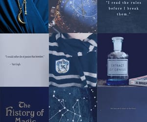 aesthetic, blue, and books image