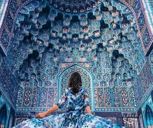 arts, blue, and long dresses image