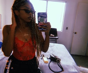 blonde, braids, and glasses image