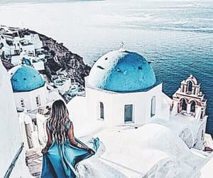 Greece, blue, and travel image