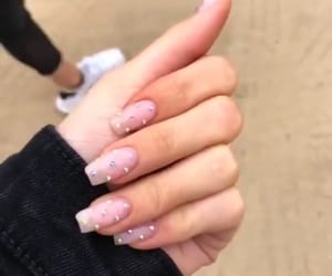nails, acrylic, and cute image