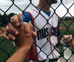baseball, cute, and couple image