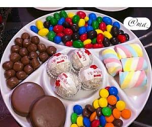 chocolate, m&m, and rafaello image