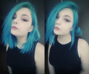 alternative, septum, and turquoise hair image