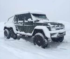 jeep, winter, and mercedesbenz image