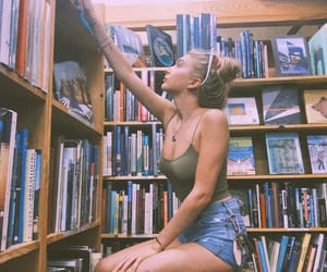 adventure, blonde, and books image