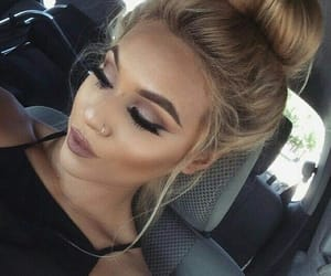 blonde, lashes, and style image