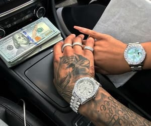 money, couple, and tattoo image