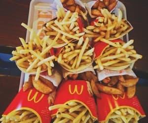 food, cips, and mc donald image