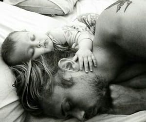 baby, dad, and white image
