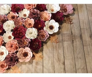 backdrop, inspiration, and paper flowers image