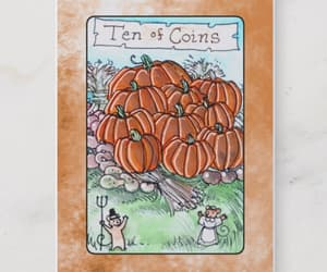 Halloween, pumpkins, and tarot image