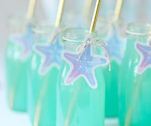 mermaid, mint, and star image