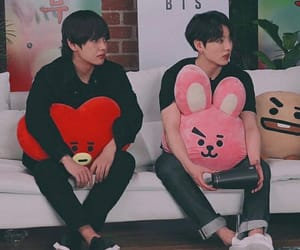 v, bts, and jungkook image