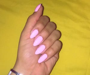 mine, nails, and pink image