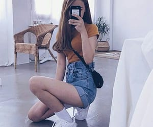 clothes, denim shorts, and kfashion image
