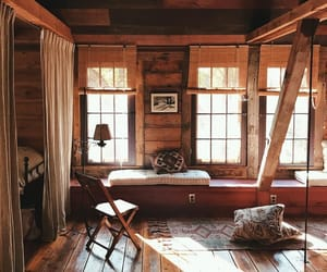 home, interior, and cabin image