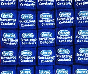 blue, condoms, and fabric image