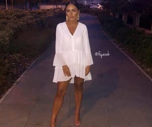 fashion style, outfit clothes, and zara dress white image