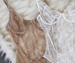 beige, bodysuit, and lace image