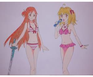 anime and manga, draw, and asuna image