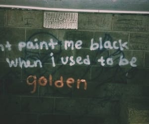 black, golden, and grunge image
