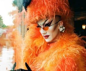 coat, drag queen, and fur image