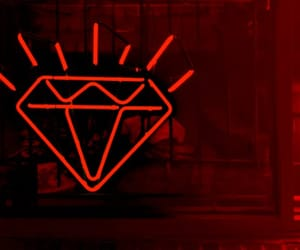 diamond, neon, and red image