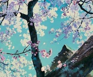 gif, japan, and sakura image