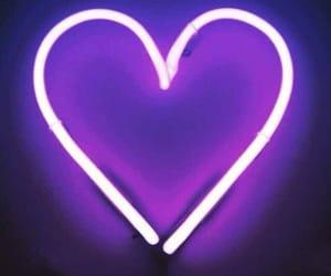 heart, purple, and neon image