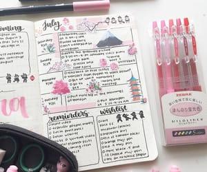 agenda, journaling, and Muji image