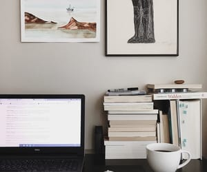 laptop, books, and home image