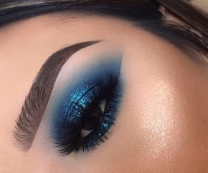 blue, glitter, and eye image