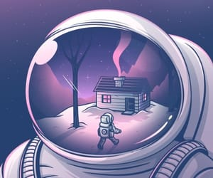 wallpaper, purple, and space image