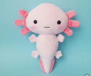 cute, pink, and axolotl image