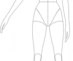 body, fashion, and sketch image