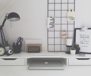 aesthetic, black, and desk image