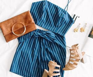 blue, outfit, and shoes image