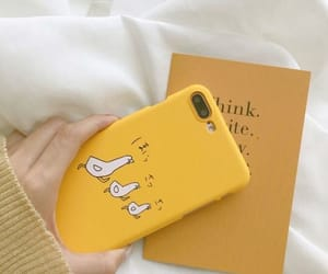 case, apple, and yellow image