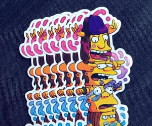 nelson, simpsons, and sticker image