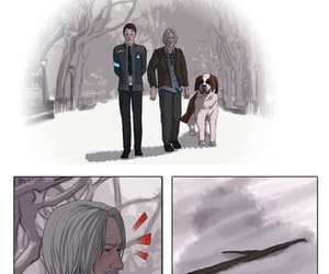 Connor, dog, and Hank image