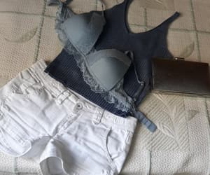 blue, bra, and clothes image