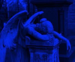 angel, statue, and sad image